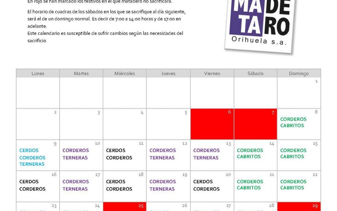 Calendario Navidad 2019/2020